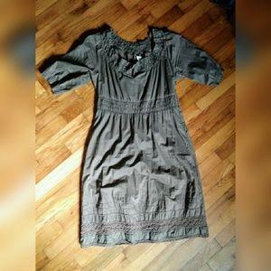 Free People brown peasant dress